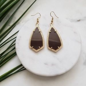 5 for $25 Gold and Brown Geometric Earrings